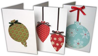 Новогодние открытки с шарами своими руками